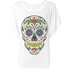 Blue Marble Sugar Skull Shirt