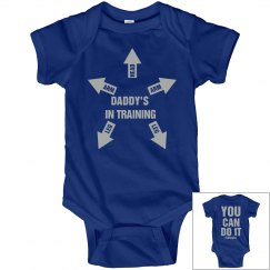 Daddy's Training Baby Snap Tee
