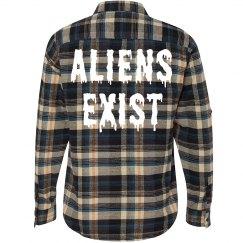 Aliens Exist Glow In Dark Grunge