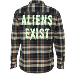 Aliens Exist Glow In Dark Grunge
