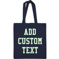 Custom Glow In The Dark Text Teenage Bag