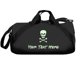 Custom Design Glow In The Dark Skull & Bones Duffel