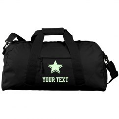 Custom Sports Duffel Glow In The Dark Text