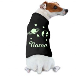 Custom Name Outer Space Dog Glow In The Dark