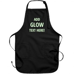 Custom Text Apron Glow In Dark