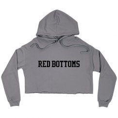 Red Bottoms Crop Hoody