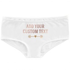 Custom Metallic Design on Undies