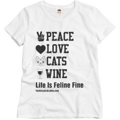 Peace Love CATS and Wine