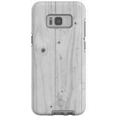 White Wood Print Galaxy Plus Case