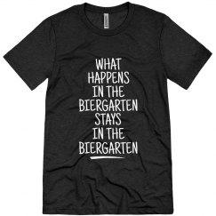 WHAT HAPPENS IN THE BIERGARTEN...