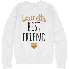 Brunette Best Friend Metallic Rose