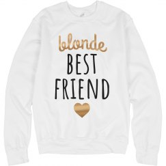 Blonde Best Friend Metallic Gold