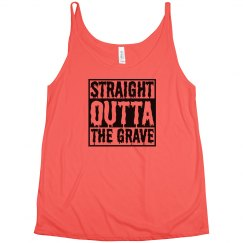 Straight Outta Grave Halloween Tank