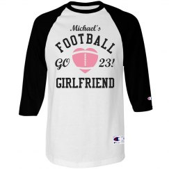 Custom Football Girlfriend Love Jersey With Custom Text