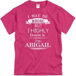 I'm Abigail