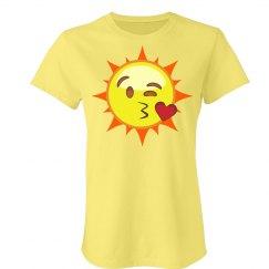 Flirty Sun Emoji T-Shirt