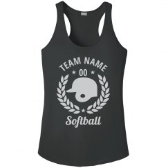Customizable Softball Team Tanks