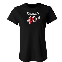 Emma's 40th birthday