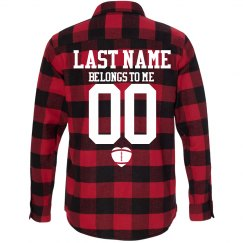 Custom Football Girlfriend Fall Fashion Flannel Shirts