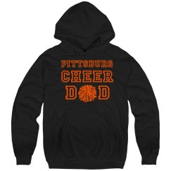 cheer dad hoodie black