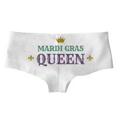 Simple Mardi Gras Queen White