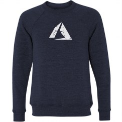 Azure Logo Crewneck Sweater Navy