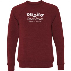 Azure Cloud Rental Crewneck Sweater Red