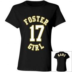 FOSTER GIRL BLACK TEE 1