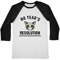 Grumpy Cat No Year's Resolution