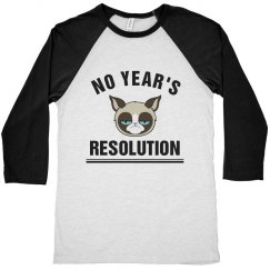 Grumpy Cat No Year's Resolution