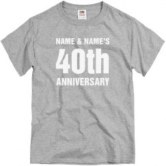 Simple Custom 40th Anniversary