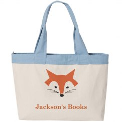 Boy's Name Library Book Bag