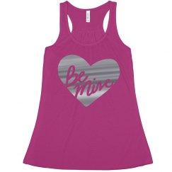 Be Mine Silver Metallic Heart