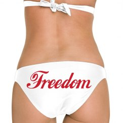 Freedom Vintage Script 4th Of July