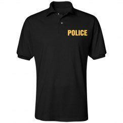 Yellow Police Text