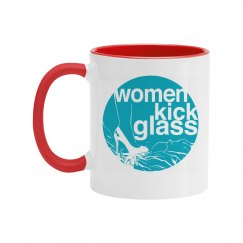 Women Kick Glass Mug