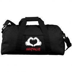Natalie's Custom Cheer Gear Bag With Custom Name