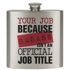 Badass Job Title Flask