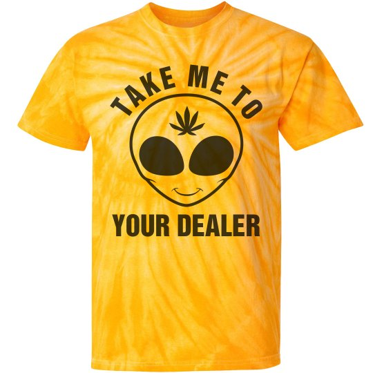 d82a0ba3b9 Take Me To Your Dealer Unisex Tie-Dye Cyclone Pinwheel T-Shirt