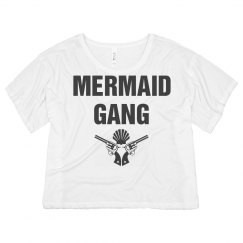 Mermaid Gang Vintage Crop Top