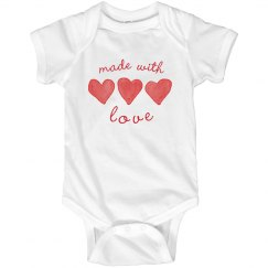 Made with Love V-Day Onesie