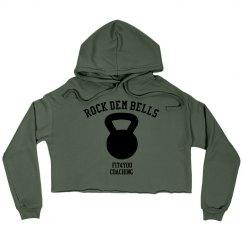 Ladies Rock Dem Bells Cropped Sweatshirt