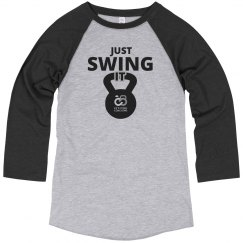 Unisex Just Swing It 3/4 Sleeve T-Shirt