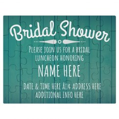 Custom Bridal Shower Invitation Puzzle