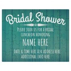 Custom Bridal Shower Invitation Puzzle