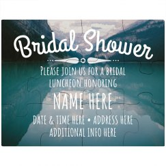 Bridal Shower Custom Invitation Puzzle