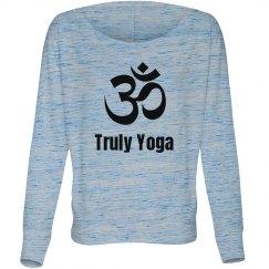 Maroon Om Truly Yoga Long Sleeve