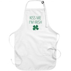 Kiss Me I'm Irish Green Apron