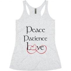 Peace Patience Love Tank Top