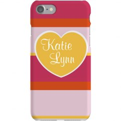 Pink Stripe iPhone Cover